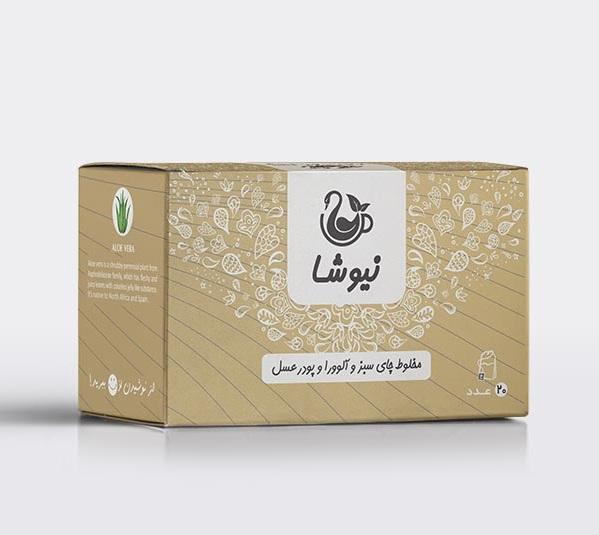 مخلوط-چای-سبز-وآلوورا-و-پودر-عسل