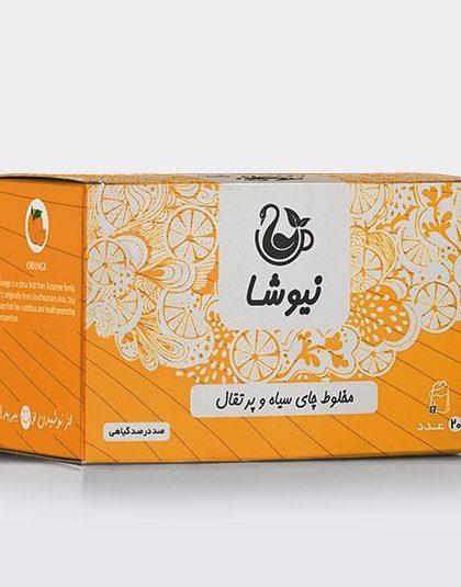 مخلوط-چای-سیاه-و-پرتقال